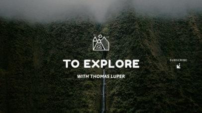 YouTube Banner Design Maker for a Travel Channel 1079d-1819