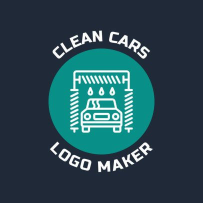 Car Wash Logo Maker for a Car Cleaning Business 1754a