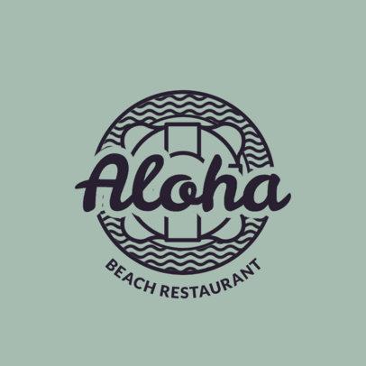 Bar Logo Maker with Hawaiian Beach Style Assets 1759d