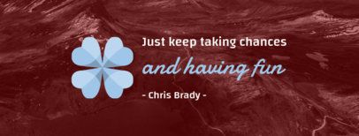Facebook Cover Template for an Inspirational Quote 1081b