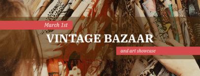 Vintage Facebook Cover Maker for Bazaars 1085c