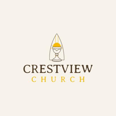 Custom Church Logo Design Template 1769d