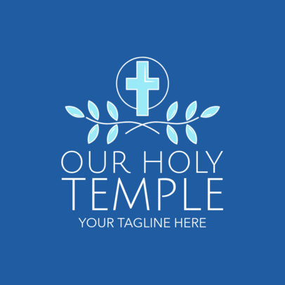 Simple Church Logo Maker for a Religious Temple 1770c
