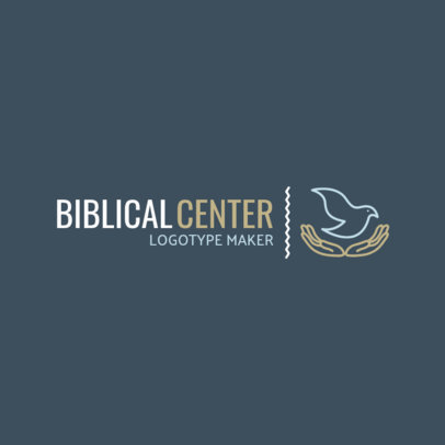 Church Logo Maker for a Biblical Center with Institutional Style 1771c