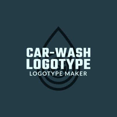 Car-Wash Logotype Maker 1757b