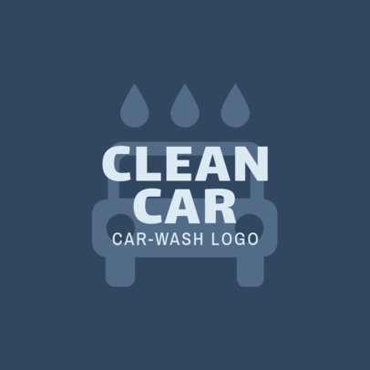 Car Wash Logo Creator with a Centered Graphic 1757d
