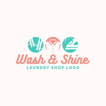 Laundry Shop Logo Template 1773c