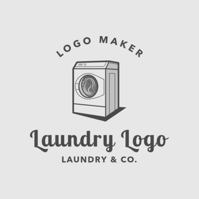 Laundry Logo Maker for a Laundry Service Company 1777