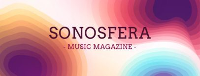 Facebook Cover Maker for a Music Magazine Fan Page 1088b