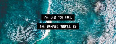 Cool Facebook Cover Maker with a Quote 1084c