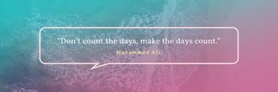 Inspirational Quote Twitter Header Template with Gradient Background 1094d--1762