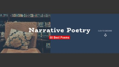 YouTube Banner Template for a Narrative Poetry Channel 1075a