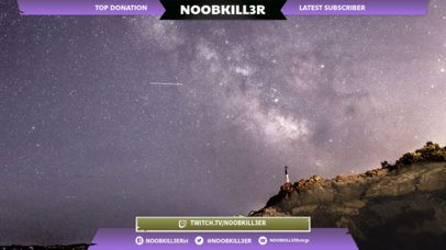 Twitch Overlay Design Template with Galaxy Images 1065d