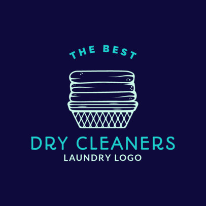 Dry Cleaners Logo Maker for a Laundry Business 1777b