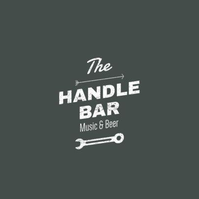 Minimalistic Online Logo Maker for a Biker Bar 1766b