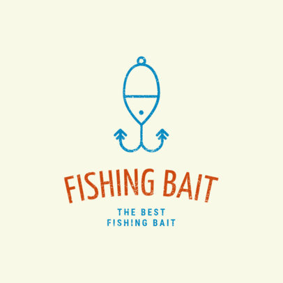 Fishing Logo Maker with Bait Clipart 1794e