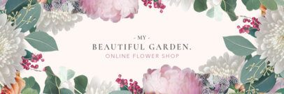 Twitter Header Template for an Online Flower Shop 1095b