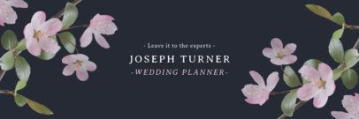 Twitter Header Template for a Wedding Planner Profile 1095c