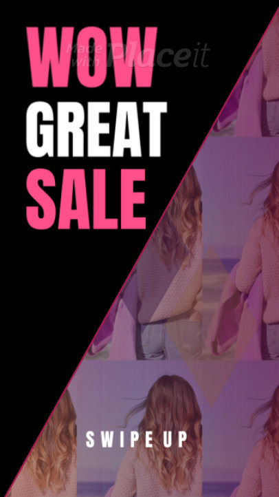 Instagram Story Video Maker for Fashion Sales 1122