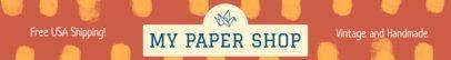 Colorful Etsy Shop Banner Maker for Paper Shops 1116a