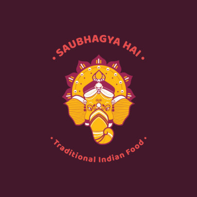 Traditional Indian Food Restaurant Logo Maker 1835b