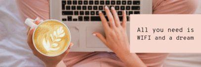 Twitter Header Generator with a Latte Art Image 1089d