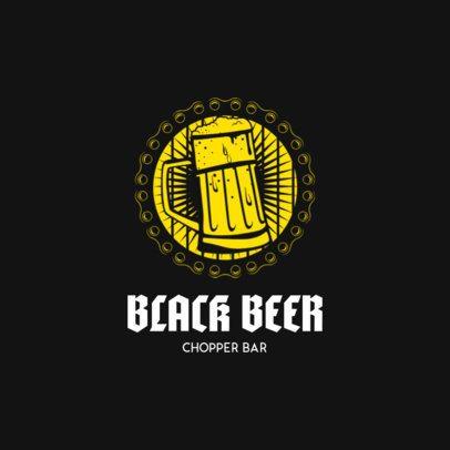 Chopper Bar Logo Maker for a Biker Bar 1764d