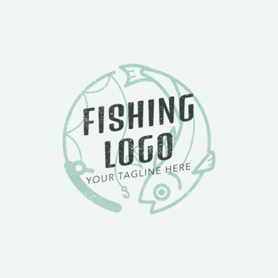 Minimalistic Fishing Logo Maker 1792