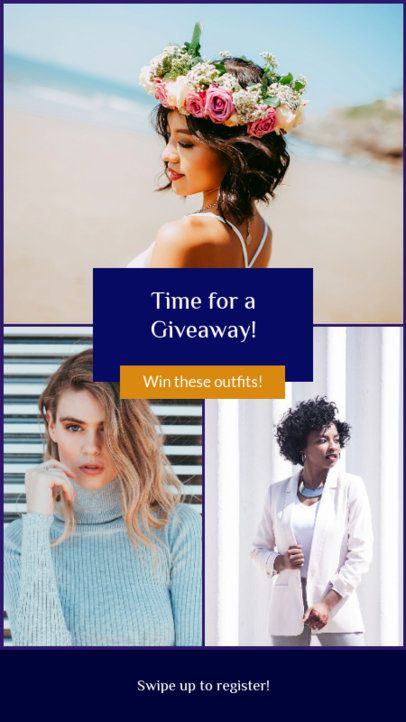 Clothing Giveaway Instagram Story Maker 964b