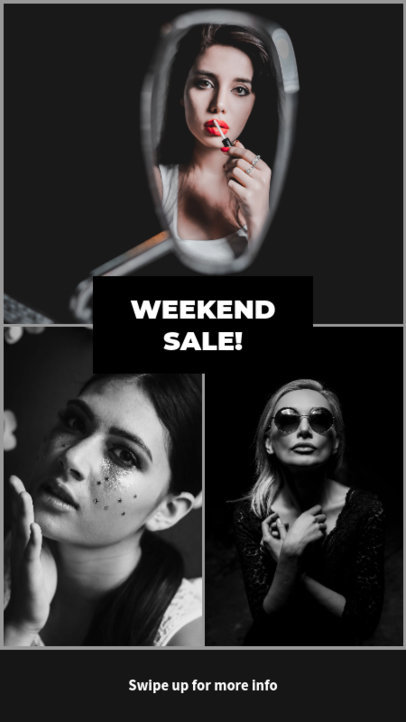 Instagram Story Template for a Weekend Sale 964e