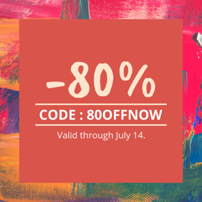 Coupon Design Template for a Huge Sale 1013e