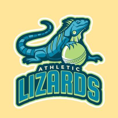Simple Cricket Team Logo Featuring Mascots 1651b
