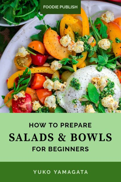 Book Cover Design Template for a Salad Recipe Book 921e