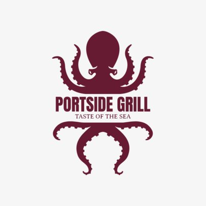 Seafood Restaurant Logo Template for a Seafood Grill 1799b