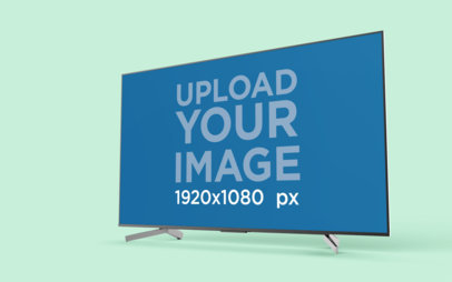 Tv Mockup Featuring a Flat Screen in a Colored Background 26125