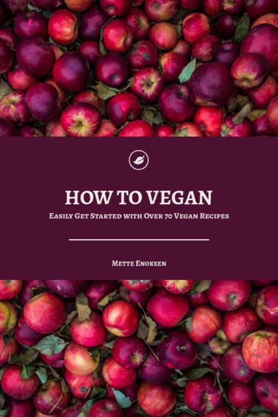 Vegan Recipe Book Cover Maker 922e