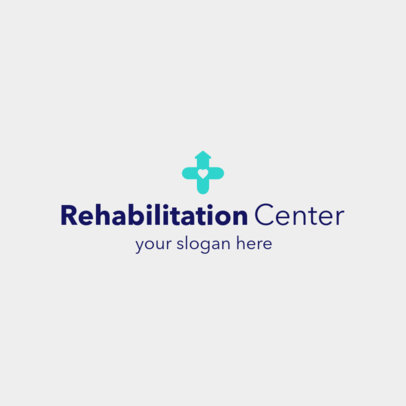Home Healthcare Logo Generator for a Rehab Center 1803d