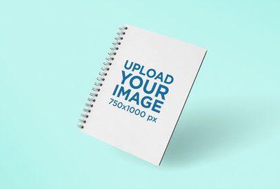 Render Mockup of Spiral Notebook Floating Facing Front 26111