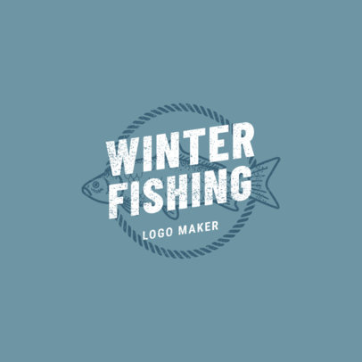 Trout Logo Maker for Winter Fishing 1792c