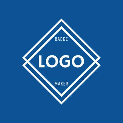 Diamond Logo Maker with a Blue Theme 1783a