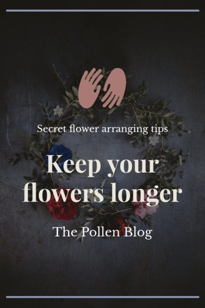 Floristry Pinterest Pin Template 1121b