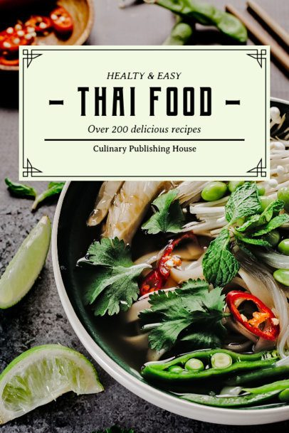 Cover Maker for a Thai Food Cookbook 923d