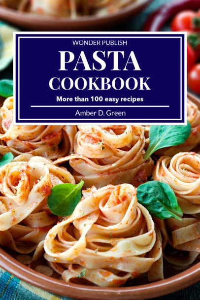 Cookbook Cover Maker for Pasta Recipes 923e