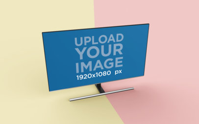 Rendered TV Mockup Featuring a Duo Colored Surface 26132