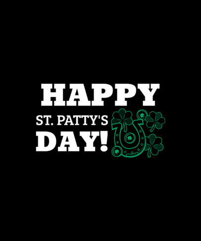 Cheerful St. Patrick's Day Tee Design Template 1131d