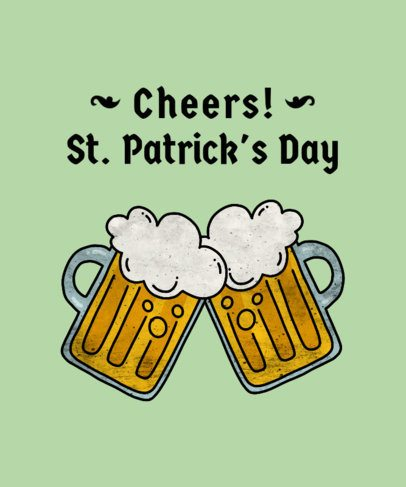 St. Patrick's T-Shirt Maker with Beer and Drink Illustrations 1129b