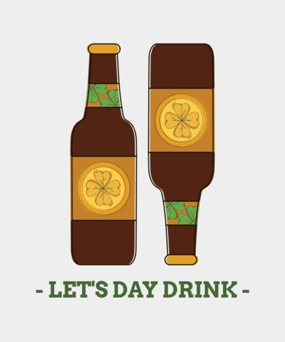 St. Patty's Day Tee Design Maker with Beer Clipart 1130d