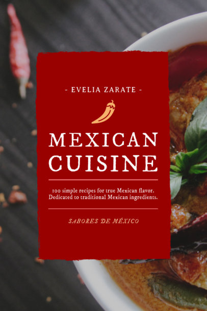 Mexican Cuisine Cookbook Design Template 920e