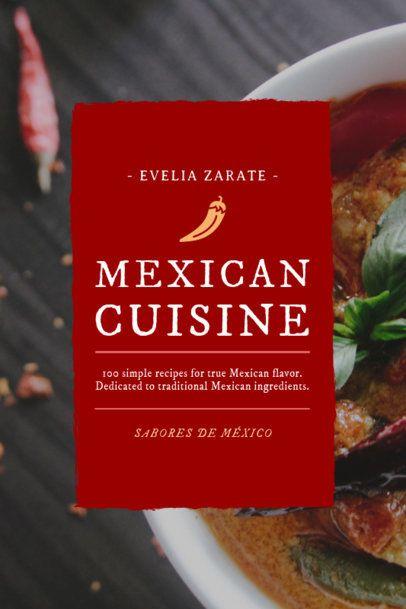 Mexican Cuisine Cookbook Design Template 920e