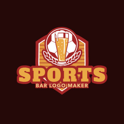 Sports Logo Maker with Badge and Graphic 1688